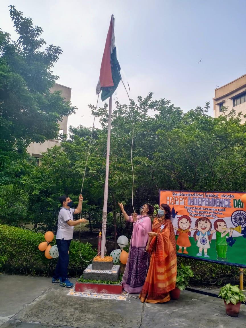 74 वें स्वतंत्रता दिवस को रायन इंटरनेशनल स्कूल फरीदाबाद में बहुत उत्साह और सम्मान के साथ मनाया गया