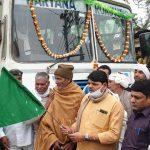 विधायक प्रवीण डागर ने हरियाणा रोडवेज बस को झंडी दिखा रवाना किया