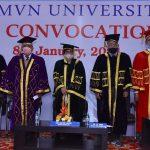 एमवीएन विश्वविद्यालय पलवल में पंचम दीक्षांत समारोह का आयोजन किया गया